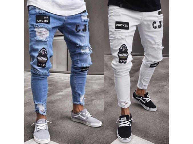 Štýlové džínsy s nášivkami