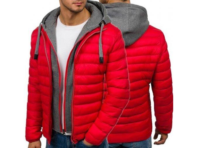 Štýlová pánska dvojitá zimná bunda