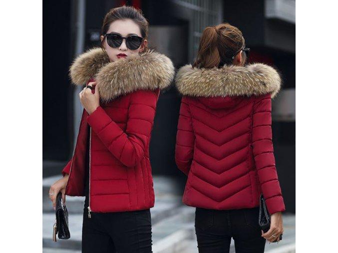 Dámska zimná bunda s kožušinou