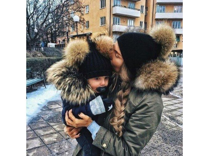 Párové čapice pre maminu s dieťatkom
