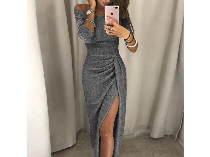 Plesové šaty s rozparkom