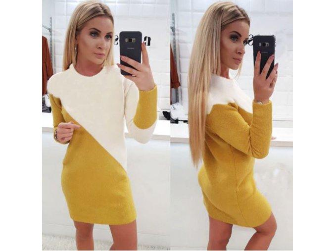 Zimné dvojfarebné šaty
