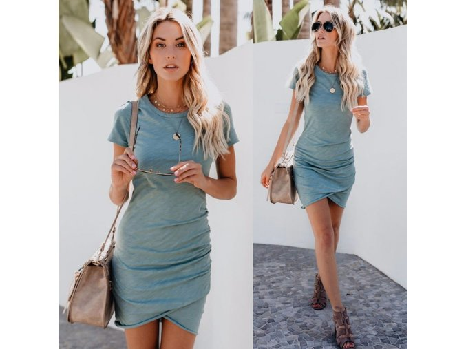Dámske bavlnené jednofarebné šaty- viac variant