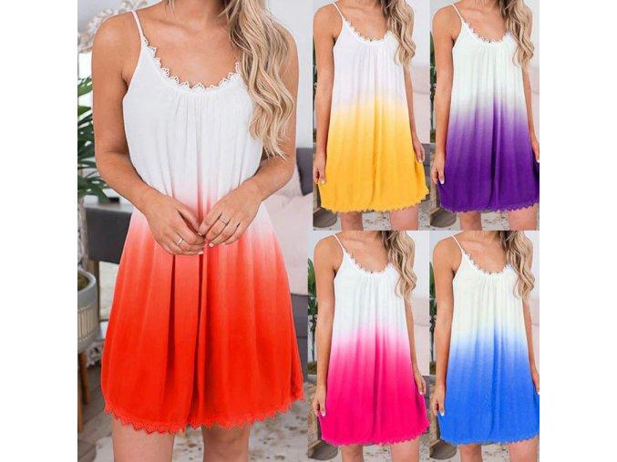 Ľahké šaty s farebným prechodom