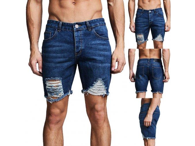 Pánske džínsové trhané kraťasy