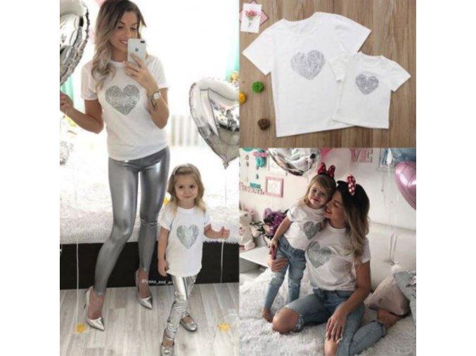 Set pre mamičku s dieťaťom - tričko so srdcom