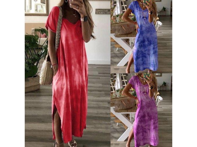 Letné ľahké batikované šaty