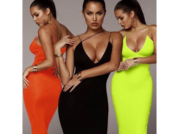 Letné šaty so špagetovými ramienkami - 3 farby