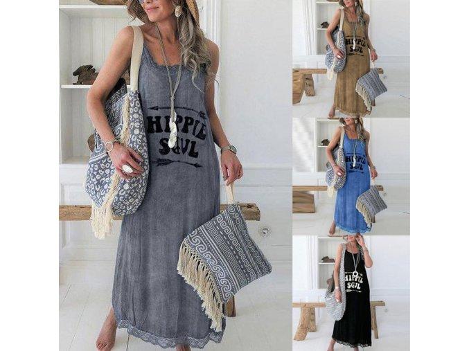 Letné bavlnené šaty HIPPIE