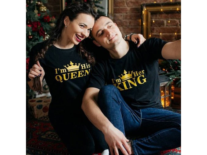Trička pre páry KING + QUEEN