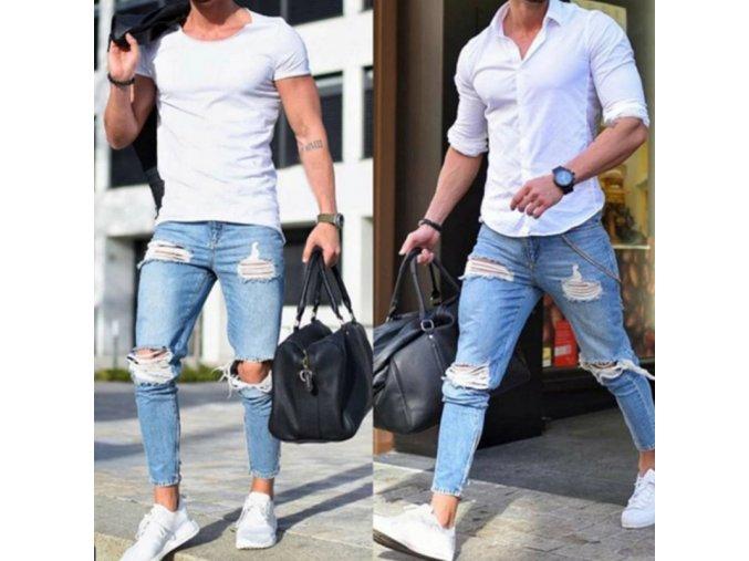 Pánske luxusné trhané džínsy - 2 farby