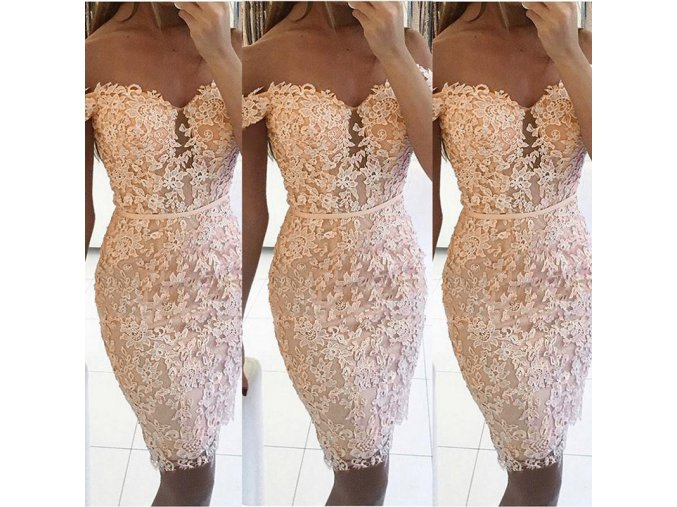 Dámske luxusné spoločenské plesové šaty krajkované