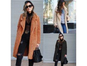 Jesenný elegantný Teddy kabát - 5 farieb
