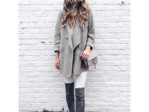 Jesenný hrejivý kabátik s vreckami - 4 farby