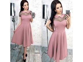 Dámske spoločenské šaty s krátkym rukávom - 4 farby