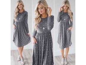 Pohodlné bavlnené šaty s bodkami