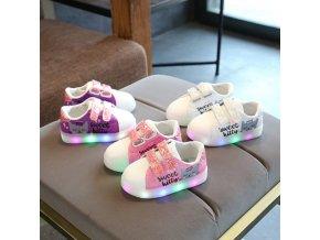 Detské svietiace topánky s mačičkou