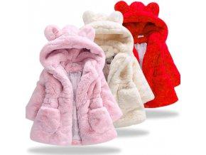 Detská zimná chlpatá bundička - 3 farby