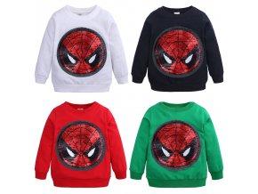 Detská mikina s obracacími flitrami - Spiderman Captain America