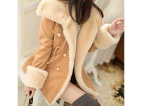 Dámska luxusná bunda s kožušinkou - 3 farby až 3XL
