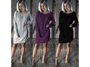 Dámske hrejivé pletené šaty - 3 farby