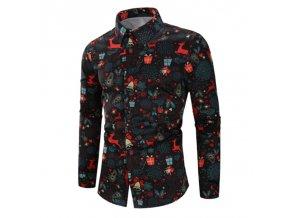 Pánska elegantná košeľa s vianočným motívom