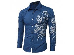 Pánska bavlnená košeľa s plameňmi