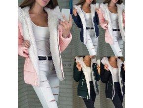 Dámska zimná prešívaná bunda s kožušinkou - 4 farby až 5XL