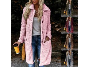 Dámsky zimný dlhý kabátik - 5 farieb