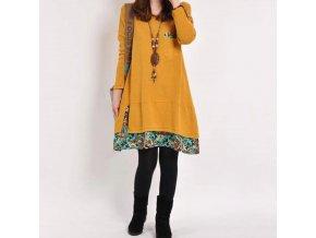 Dámske teplé farebné šaty - až 4XL
