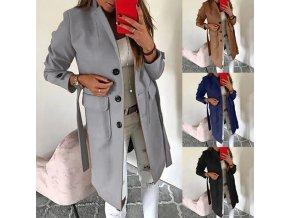 Dámsky zimný kabát s opaskom - až 5XL
