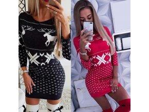 Dámske pletené vianočné šaty