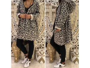 Dámska jarná bunda s leopardím vzorom