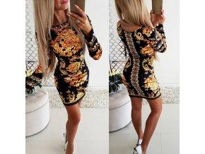 Luxusné bodycon šaty s ornamentami