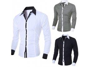 Pánska spoločenská dvojfarebná košeľa
