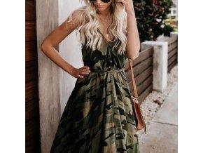 Dámske letné maskáčové šaty