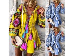 Dámske letné Boho šaty s strapce - 2 farby
