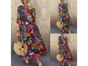 HIT dlhé vzorované šaty - až 5XL
