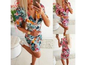 Dámske elegantné kvetinové šaty