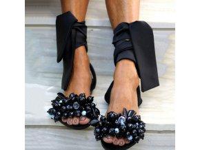 Luxusné sandálky s korálkami na zaväzovanie - 4 farby