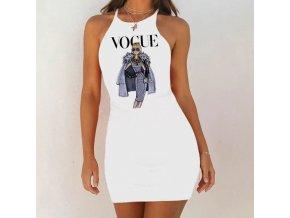 Štýlové šaty VOGUE s obrázkom