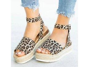 HIT luxusné sandálky na platforme s opaskom - viac farieb