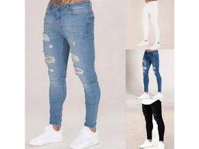 Pánske skinny roztrhané džínsy - 4 farby až 5XL