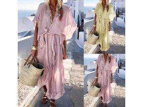 Boho letné šaty ideálne na pláž - príjemný materiál
