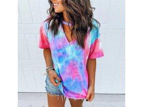 TIP krásne batikové tričko - viac farieb