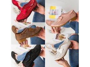 Dámske nazúvacie topánky s mašľou - veľmi priedušné
