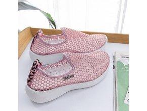 nazúvacie sieťované topánky - veľmi priedušné a pohodlné