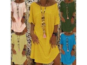Letné jednofarebné šaty - príjemné a pohodlné