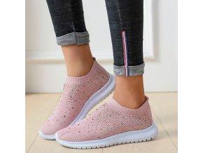 Luxusné nazúvacie topánky s kamienkami - priedušné a pohodlné