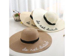 Módny hit - slamený klobúk s nápisom - viac farieb